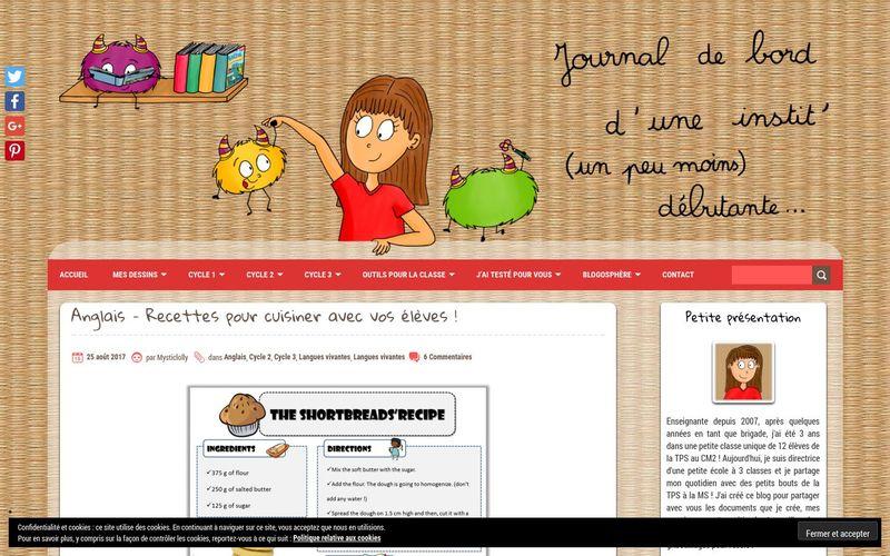 Le blog de Mysticlolly : Anglais, recettes pour cuisiner avec vos élèves !
